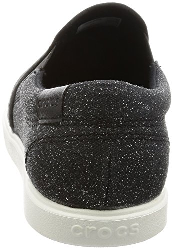 Crocs crocsCitiLane Slip-On Sneaker - Scarpe da Ginnastica Basse Donna Nero (Black Shimmer)