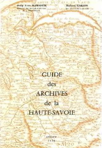 Guide des archives de la Haute-Savoie