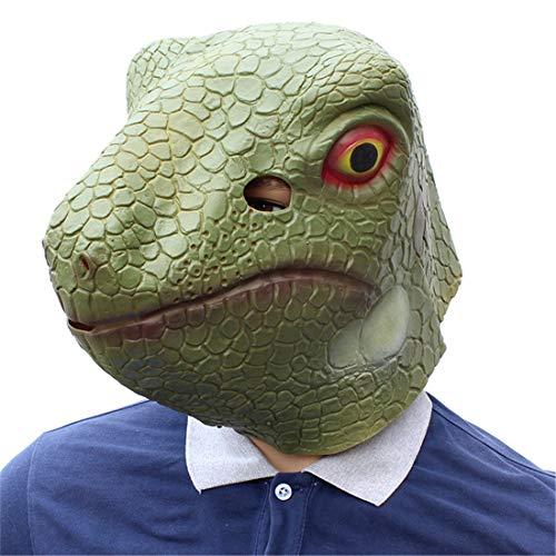 (JUKUB Party Liefert Simulation Tierische Kopfbedeckung Lizard Maske Halloween Dekoration Kostüm Maske Cosplay Volle Kopfmaske Látex)