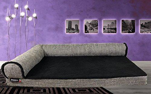 Dogshore Cortina Canapé d'intérieur de grande qualité pour chien de grande taille (90 x 70 x 20 cm), épaisseur 6 cmFabriqué en Italie à 100 %, pour chiens de grande taille. 135 x 90 x 10cm Melange/Grigio
