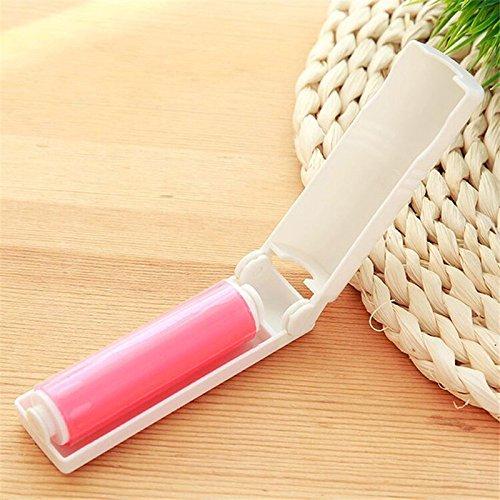k-Wolle-Werkzeug-Kleidung-Saubere Rollen-Bürsten-klebrige Rolle waschbares faltbares Haar-klebriger Staub für Kleidung, Rot ()