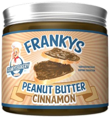 Frankys Bakery Naturbelassene Peanut Butter Erdnussbutter Einfach Ungesättigten Fettsäuren Protein 450g (Erdnussbutter Zimt)
