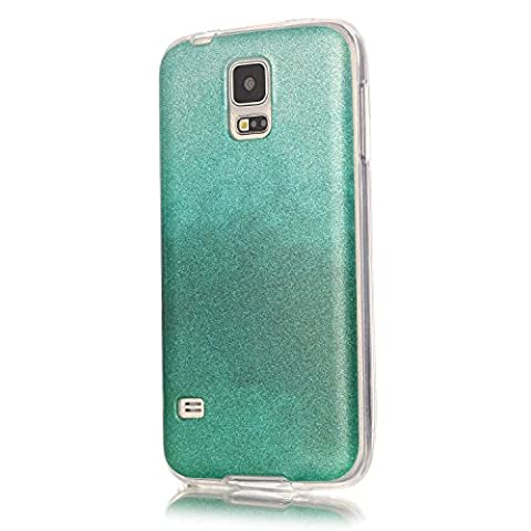Pour Samsung Galaxy S5 SV I9600 G900 Coque,Ecoway Housse étui Flexible protection en TPU Silicone Shell Housse Coque étui creux Slim Case Cover Cuir Etui Housse de Protection Coque Étui Samsung Galaxy S5 SV I9600 G900