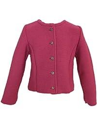 Trend-Promotion Austria Chaqueta de punto para niña rosa–Cazadora a tirolesa y piel Pantalón