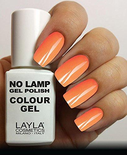 Layla Cosmetics Milano Lamp Gel Polish-smalto per unghie, colore: arancio fluorescente