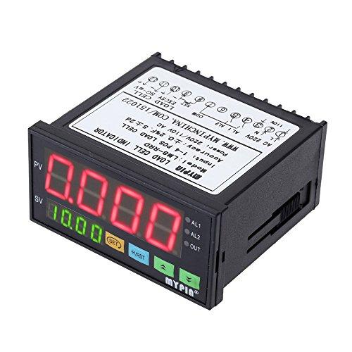 KKmoon Digital Controller Celle di Carico Indicatore di Pesatura 1-4 Carico Cellulare Segnali Input 2 Relè Uscita 4 Cifre Display a LED - Segnale Indicatore