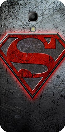 Shengshou Superman Design Mobile Back Cover for Samsung Galaxy S4 Mini - Grey Red