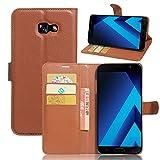 Hülle Samsung Galaxy A7 (2017), EUGO PU Ledercase Tasche