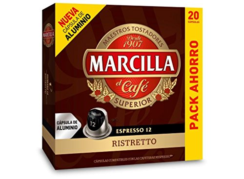 Capsulas Compatibles Nespresso®* Marcilla Ristretto 20 Unidades