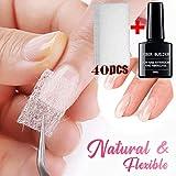 Fiberglass Extension Nails Gel Kit -Fiberglass Nail Kit Fiber Nails Extension, Fiberglass Silk Wrap Nail Kit, Nail Art Quick Extension Gel,Anself Fiber Nails Glass Acrylic Nail Salon Tool (40 pcs)