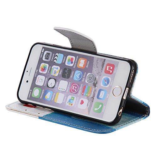 PU für Apple iPhone 6 (4.7 Zoll) Hülle,Farbe geprägt Geprägte Handyhülle / Tasche / Cover / Case für das Apple iPhone 6 (4.7 Zoll) PU Leder Flip Cover Leder Hülle Kunstleder Folio Schutzhülle Wallet T 9