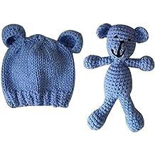 307ef153e TOYMYTOY Apoyos de la fotografía del recién nacido Sombrero de punto lindo Niños  Niñas Sesión de