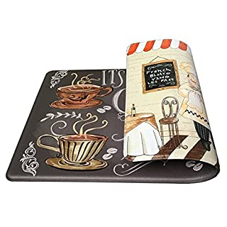 Art3d Premium Double-Sided Anti-Fatigue Chef Rug, Anti-Fatigue Comfort Mat. Multi-Purpose Decorative Standing Mat for the Kitchen, Bathroom, Laundry Room or Office, 18 X 30 ... by Art3d