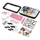 Hama 15in1-Zubehör-Set Horses für Nintendo New 3DS/New 3DS XL (inkl. Tasche, Schutzfolien, Kopfhörer, Stifte)