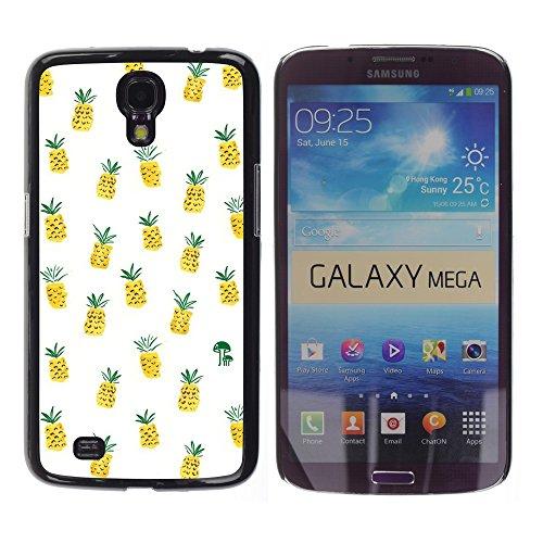 WonderWall Tapete Bunt Bild Handy Hart Schutz hülle Case Cover Schale Etui für Samsung Galaxy Mega 6.3 I9200 SGH-i527 - Unkraut Cannabis 420 Rauch