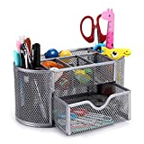 Best Office Supplies - BTSKY 9 Compartment Multi-Functional Mesh Desk Organizer Office Review