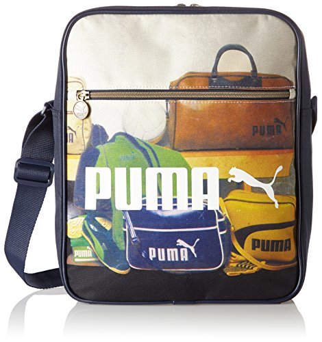 Puma, Borsa Campus Flight Multicolore (Peacoat/Graphic)