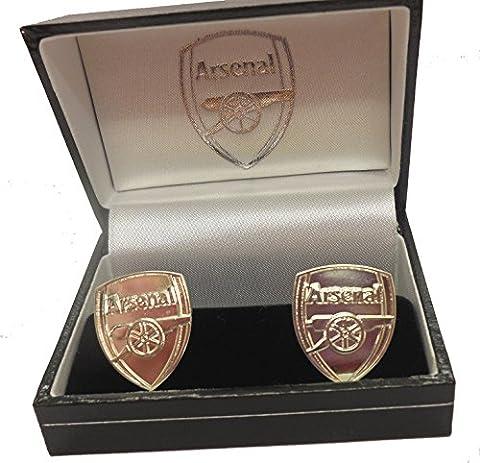 Arsenal F.C. Manschettenknöpfe versilbert CR Offizieller Merchandise-Artikel