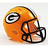 Riddell Mini-American-Football-Helm, NFL-Team: Green Bay Packers, im Taschenformat.