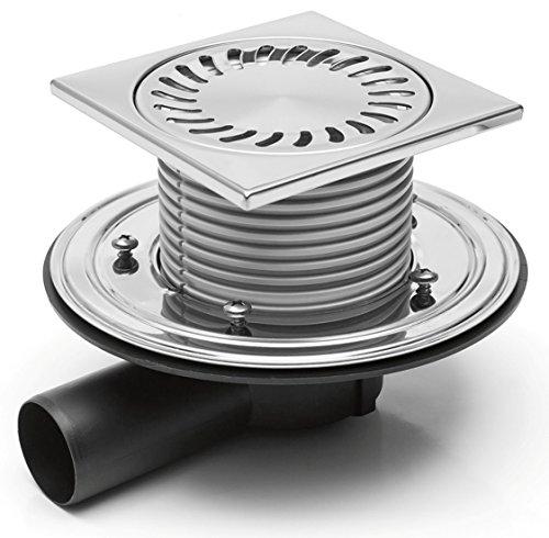 Duschablauf - Badablauf - Bodenablauf in Edelstahl-150x150-DN50 (381-F)