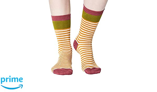 Walla women/'s super-soft bamboo crew socks in mustardBy Thought