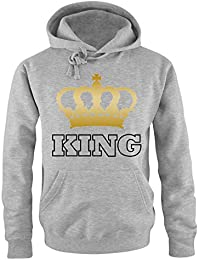 Pärchen Hoodie | KING And QUEEN | KRONE II | Damen und Herren | Liebe Love
