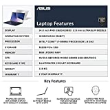 ASUS ZenBook 14 Intel Core i7 8th Gen 14-inch FHD Thin and Light Laptop (8GB/512GB SSD/Windows 10/MX150 2GB  Graphics/Icicle Silver Metal/1.19 Kg), UX433FN-A6123T