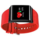 Fitness Tracker x9pro Sportuhr Herren Damen Armband Fitness Unisex mit Farbe OLED Touchscreen – anti-lost Armband Armband Activity Tracker Smart Watch Band, rot