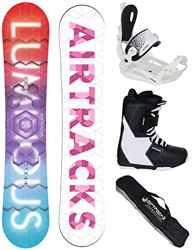 Airtracks SNOWBOARD SET - BOARD LUMINOUS LADY 150 - SOFTBINDUNG MASTER W - SOFTBOOTS SAVAGE W 40 - SB BAG