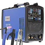 Soldador Inverter TIG IPOTOOLS SUPERTIG 200DI TIG Maquina de Soldar AC DC Unidad de Soldadura con 200 amperios totalmente digital con encendido HF, Función de pulso, MMA, IGBT