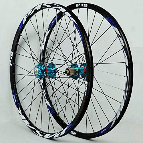 DL Llanta de Doble Pared 26/27.5/29 Pulgada rodamiento Sellado para Bicicleta de Carretera Ultra-Ligeras,Blue