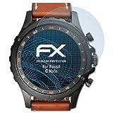atFoliX Displayschutzfolie für Fossil Q Nate Schutzfolie - 3 x FX-Clear kristallklare Folie