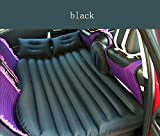 Matelas gonflable Lit voiture Portable pour voyage Outdoor, Housse de gonflage de voyage Plus épais Dos Coussin d'assise Matelas gonflable pour SUV, gratuit Pompe à air électrique, Noir