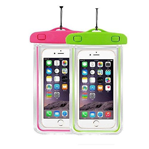 [2] Wasserdicht Fall Universal Handy Dry Bag Pouch casehq für Apple iPhone 8,8plus, 7,7plus, 6S, 6, 6S Plus, SE, 5S, Samsung Galaxy S8, s8plus, S7, S6Note 75, HTC LG Sony Nokia bis 14,7cm Diagonal