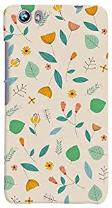 PrintVisa Pattern Abstract Floral Case Cover for Micromax Canvas Fire 4 A107