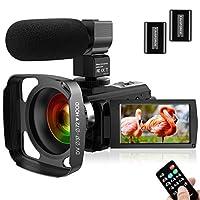 كاميرا فيديو فائقة الدقة مع ميكروفون 1080P 30FPS 24MP Vlogging كاميرا رقمية مع غطاء عدسة 3.0 بوصة شاشة 16X مسجل كاميرا التكبير الرقمي YouTube كاميرا للبث المباشر