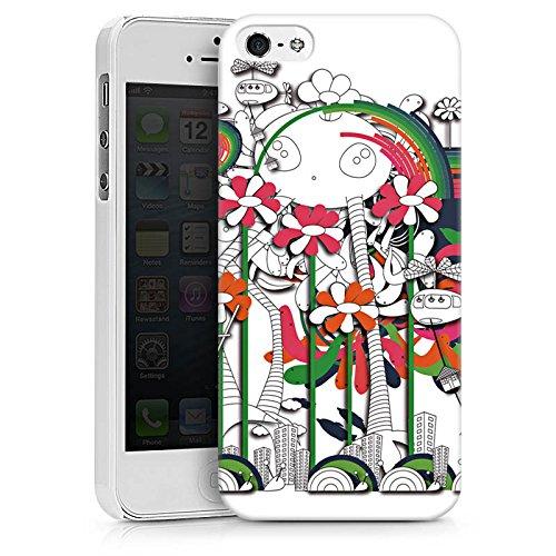 Apple iPhone X Silikon Hülle Case Schutzhülle Fantasie Blumen Traumwelt Hard Case weiß
