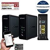 STRONG Wi-Fi Mesh Home Kit 1600 (Kit de 2 Wifi répéteurs, jusqu'à 200 m² de couverture, 1600 Mbit/s, 802.11ac/n/g/b/a, dual band point d'accès, Mesh Wifi) noir