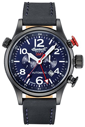 Ingersoll Lawrence GMT Mens Automatic Watch IN3218BBL