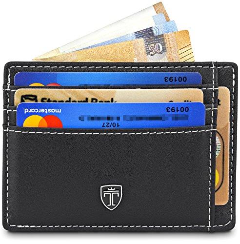 TRAVANDO Geldbeutel Slim Portemonnaie Kreditkartenetui Kartenetui Herren Etui Kartenhalter Männer klein Kreditkartenhalter Brieftasche Geldbörse dünn Portmonee Mini Wallets for men RFID Karten MACAO