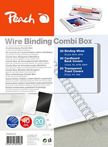 Peach PW064-07 Drahtbindeset für 20 Dokumente DIN A4, 60-teilig