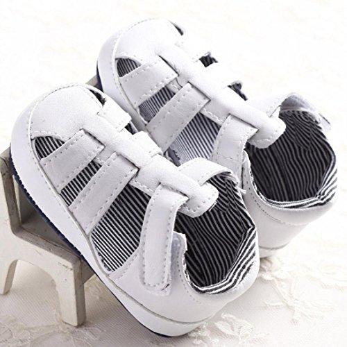 Chaussures de bébé,Transer ® Infantile bébé fille garçon 0-18 mois doucement semelle berceau enfant sandales espadrille Blanc