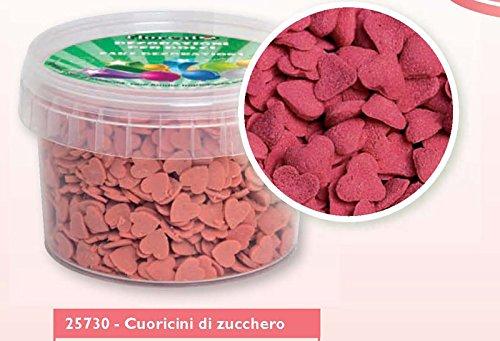Cuoricini di Zucchero Rossi gr.150