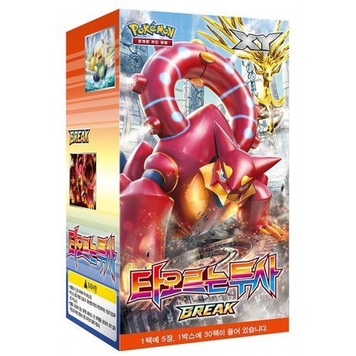 Pokemon Karte XY11 BREAK Booster Pack Box 30 Packs in 1 Kasten Dampfkessel Fever-Burst Fighter Koreanisch Ver TCG + 3pcs Premium Card Sleeve (Ex Pokemon Japan)
