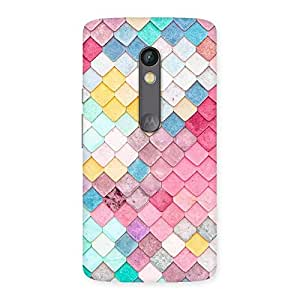 Special Rock Pattern Multicolor Back Case Cover for Moto X Play
