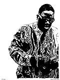 Becky Mann Kunstdruck-Poster, Portrait von The Notorious B.I.G. (OTW0049)