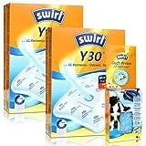 2x Staubsaugerbeutel Swirl Y 30 Plus AirSpace mit Duftperlen Active Fresh für LG, Rowenta...