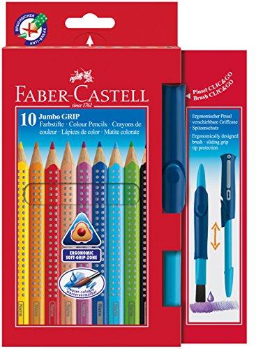 Faber-Castell Jumbo – Paquete de 10 lápices de colores