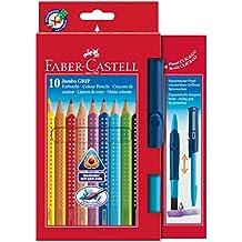 Faber-Castell Jumbo - Paquete de 10 lápices de colores