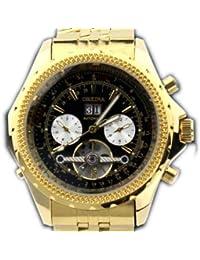 ORKINA YI-WAC14-03-247 - Reloj para hombres, correa de acero inoxidable color dorado